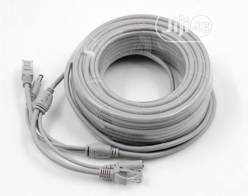 50M Ethernet Cable RJ45+DC Power Cat 6 Cable