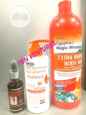 Pure Egyptian Magic Whitening Set (With Extra White Body Wash) | Skin Care for sale in Lagos State, Amuwo-Odofin