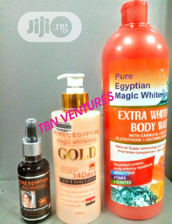 Pure Egyptian Magic Extra Whitening Set (With Purec Gold Lotion)