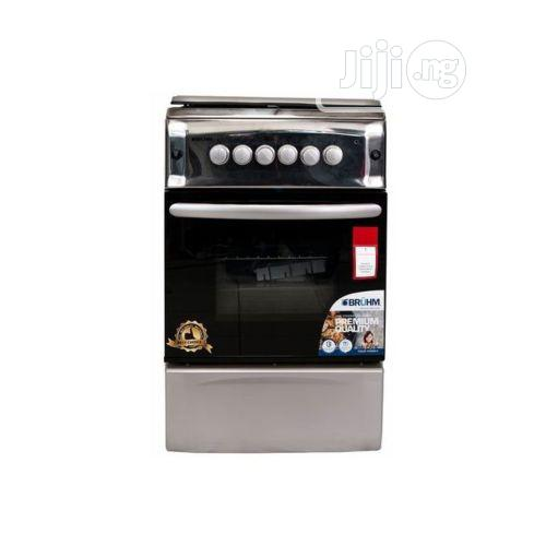 Bruhm 3 Gas + 1 Electric Gas Cooker (50 X 55cm) - Silver