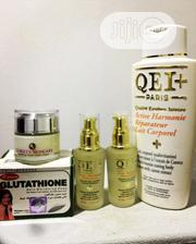 QEI+ 1 Lotion, 2 Serums, 2 Glutathione Soap 1 Gloxxy'S Facial Cream | Bath & Body for sale in Lagos State, Ojo