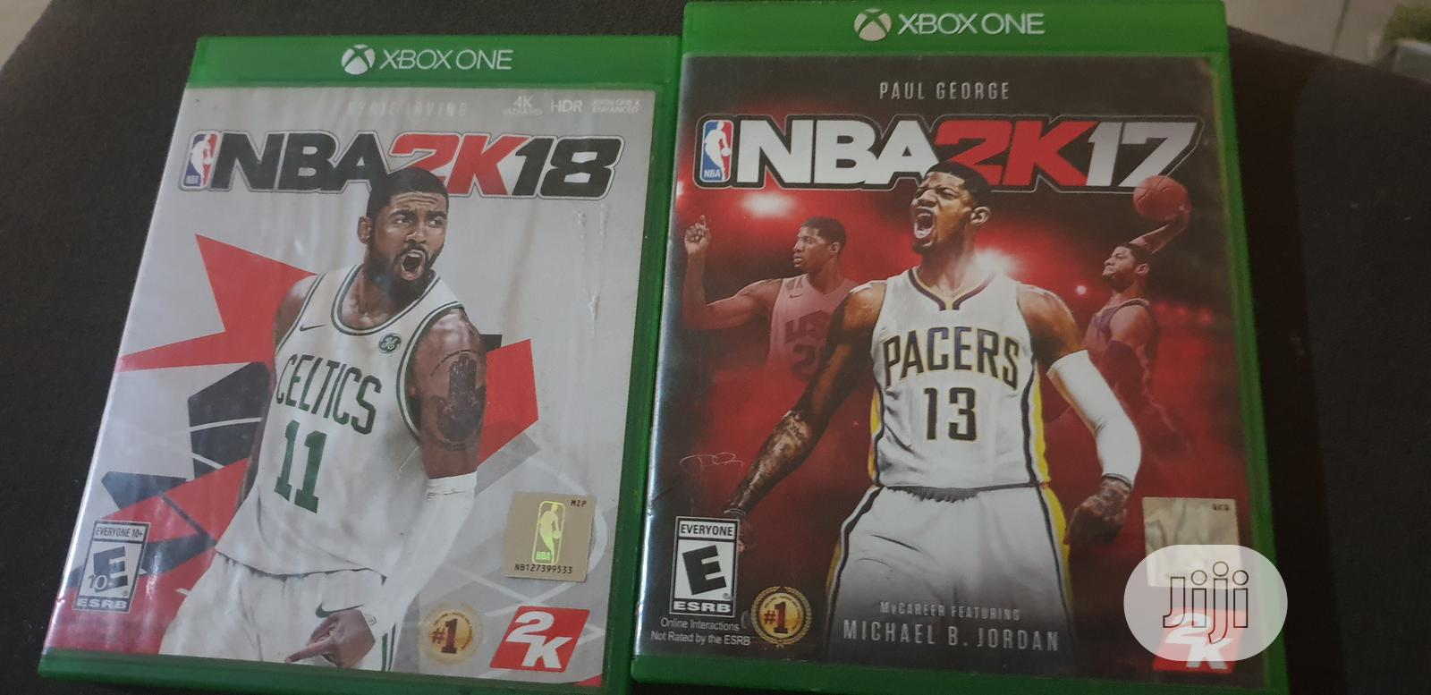 Archive: NBA 2k18 And 2k17 Used On Xbox 1