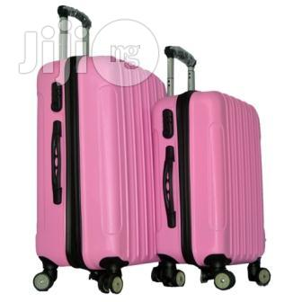 4 Wheel ABS Pink Luggage 24/20 Inches