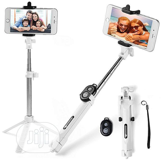 Extendable Selfie Self Stick Monopod Tripods Bluetooth Remote Shutter