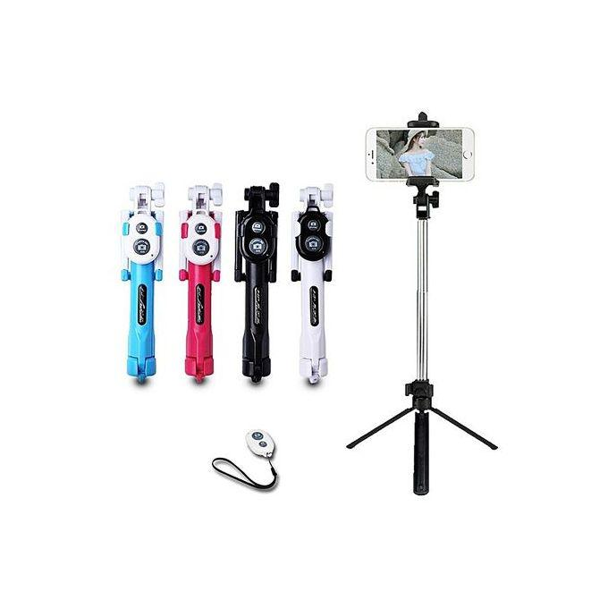 Extendable Selfie Self Stick Monopod Tripods Bluetooth Remote Shutter | Accessories for Mobile Phones & Tablets for sale in Ikoyi, Lagos State, Nigeria