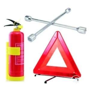 Fire Extinguisher 1kg + Wheel Spanner + C- Caution Sign | Safetywear & Equipment for sale in Lagos State, Lagos Island (Eko)