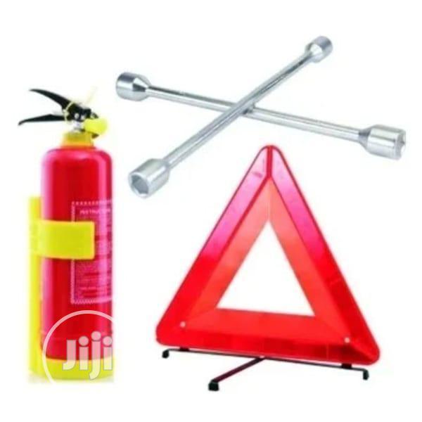 Fire Extinguisher 1kg + Wheel Spanner + C- Caution Sign