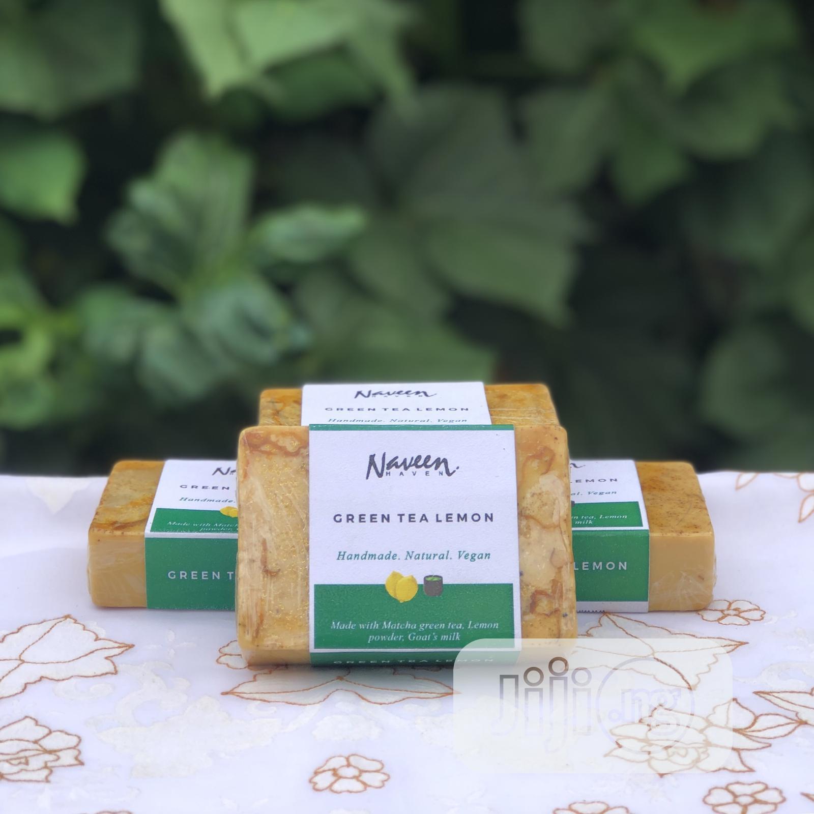 Green Tea Lemon Natural Bar Soap