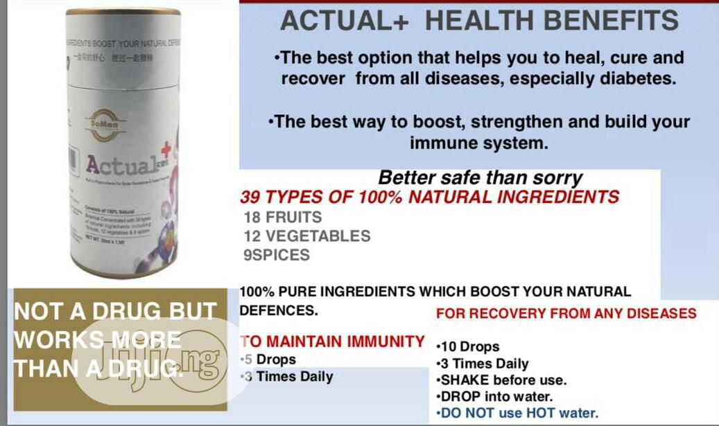 Actual Plus to Heal, Cure All Health Challenges Especially Diabetes
