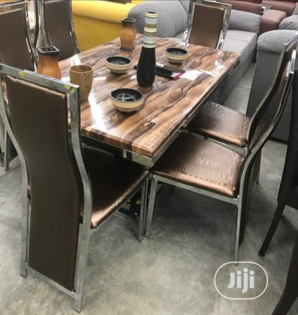 Imported Marble Dining Table With Six Chairs