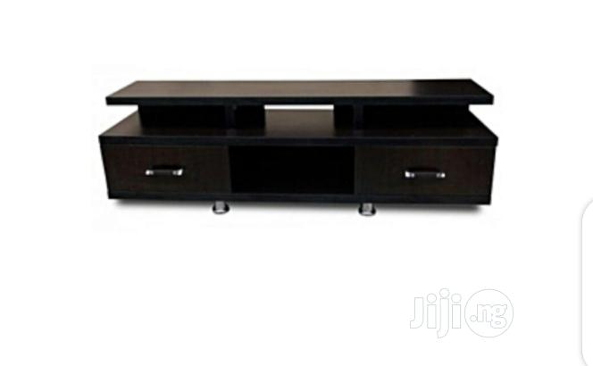 A Brand New Coffee Brown TV Stand With Drawers