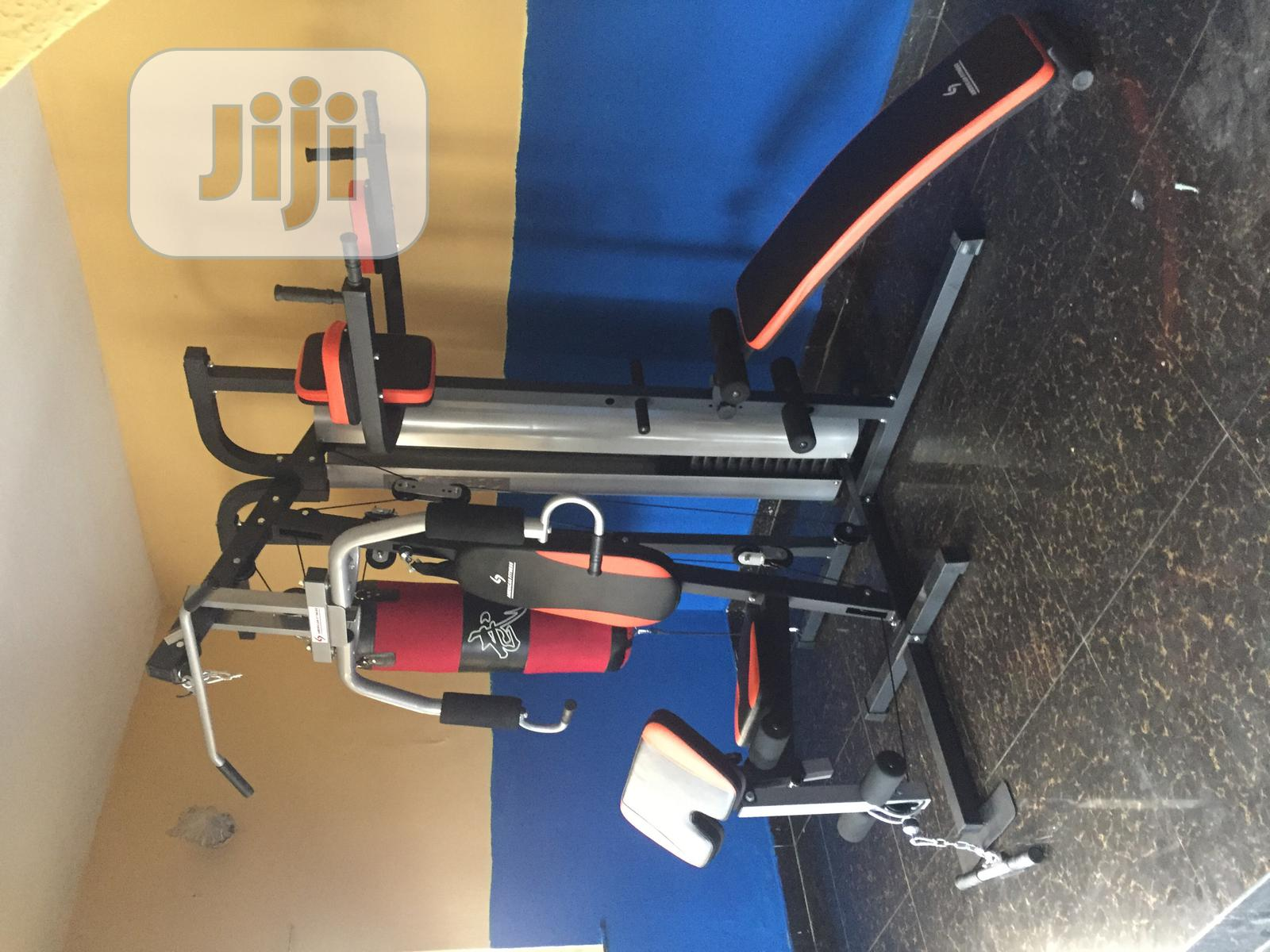 American Fitness Commercial Three Multi Station GYM