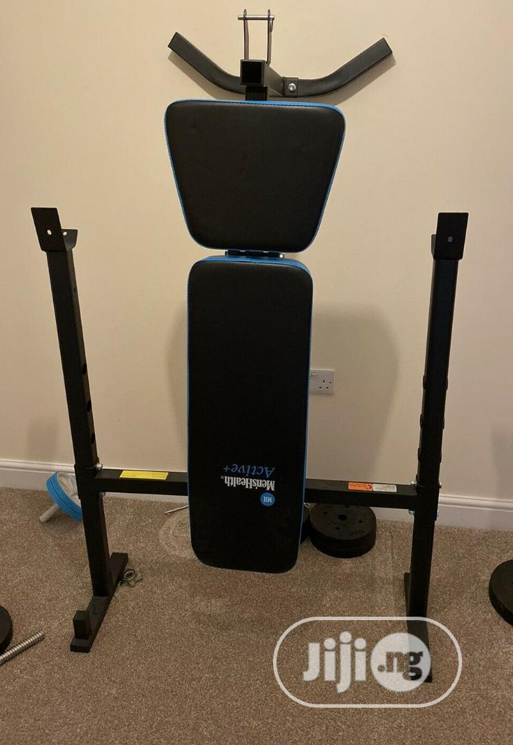 Bench Press With 50kg Barbel and Dumbbell | Sports Equipment for sale in Lekki Phase 2, Lagos State, Nigeria