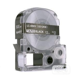 Brother Label Tape Cartridge For Epson 12mm Black On White Tape | Accessories & Supplies for Electronics for sale in Lagos State, Ikeja