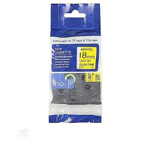 Brother Compatible Tape Tze-18mm Yellow on White Tape | Accessories & Supplies for Electronics for sale in Lagos State, Ikeja