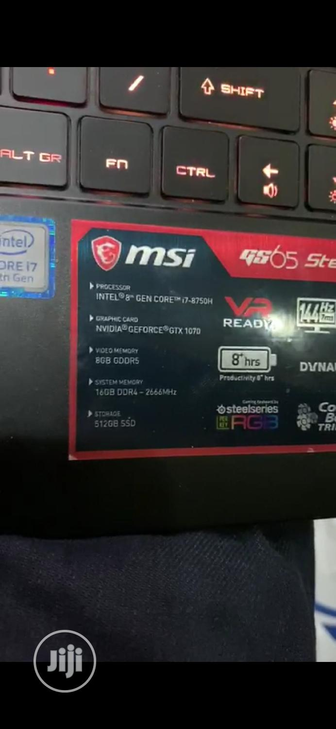 New Laptop MSI GS65 Stealth Thin 8RE 16GB Intel Core i7 SSD 512GB   Laptops & Computers for sale in Ikeja, Lagos State, Nigeria