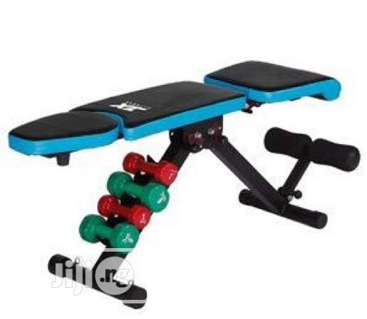 Brand New Imported JX Fitness Adjustable Sit-up Bench With DUMBELL | Sports Equipment for sale in Surulere, Lagos State, Nigeria