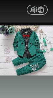 Boys Outfit Green With Bow Tie.   Children's Clothing for sale in Lagos State, Ikorodu