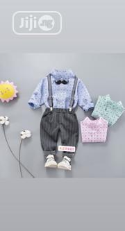 Boys Outfit With Suspender and Bow Tie   Children's Clothing for sale in Lagos State, Ikorodu