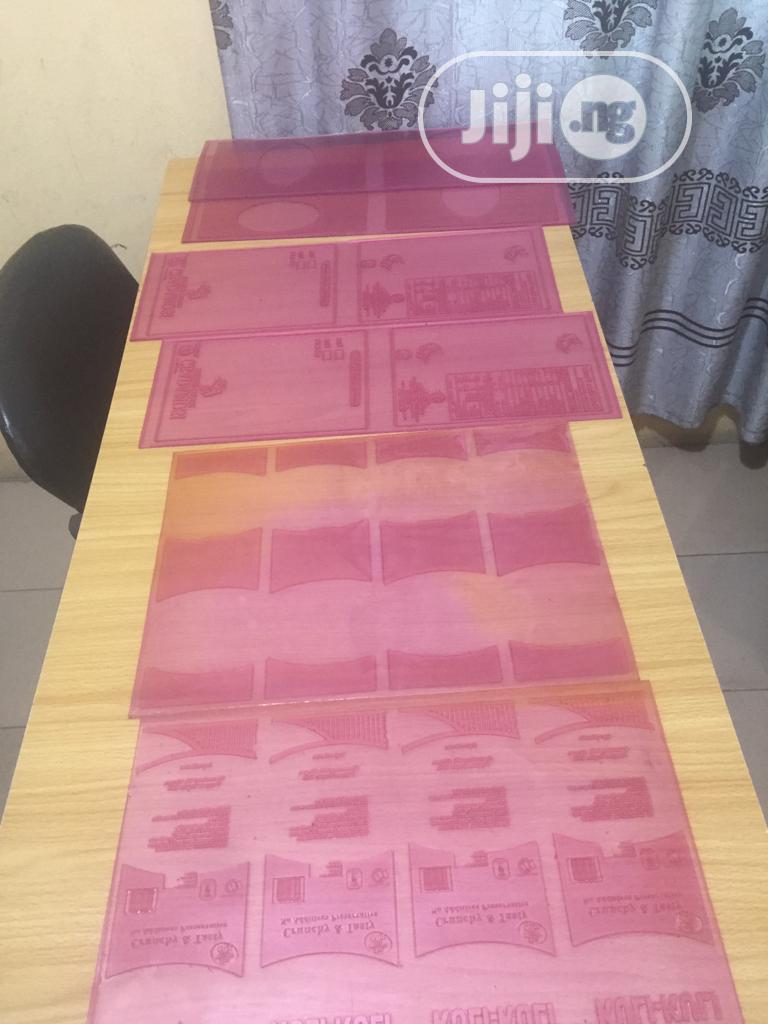 Rubber Stereo Plate For Bread,Pure Water, Popcorn And Chicken Nylon | Manufacturing Services for sale in Ado-Odo/Ota, Ogun State, Nigeria