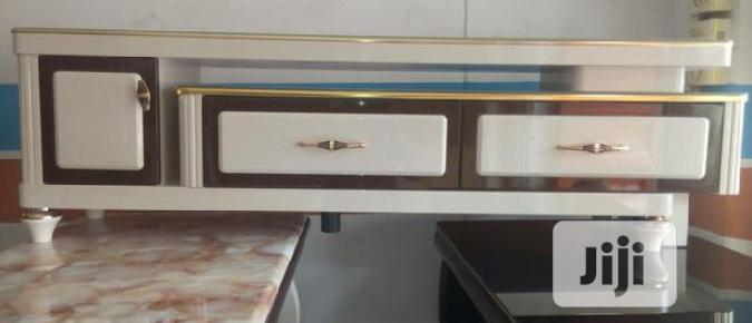 Luxury Marble Top TV Stand.