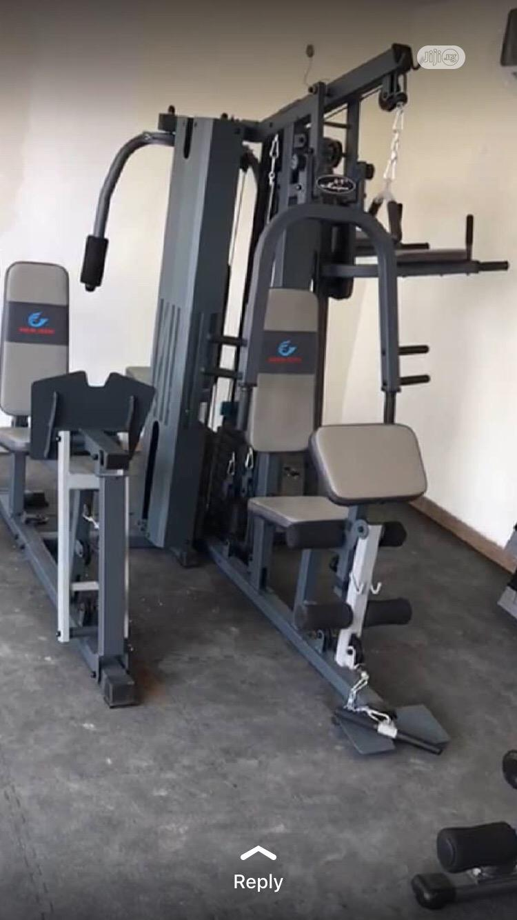 Brand New Imported Five Multi Station GYM With Complete Accessories