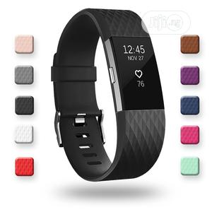 Charge 2 Heart Rate Fitness Wristband - Black | Smart Watches & Trackers for sale in Lagos State, Ikeja