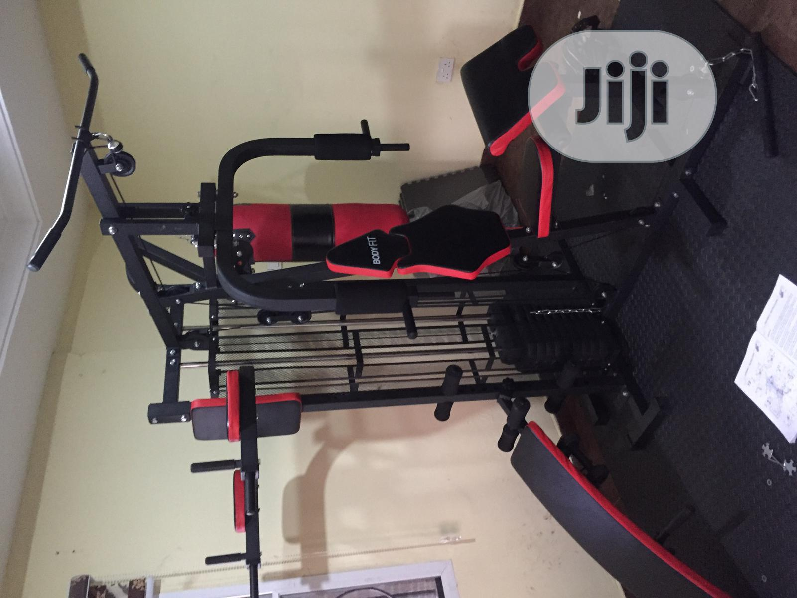 Brand New Imported Bodyfit Three Station Multi GYM | Sports Equipment for sale in Surulere, Lagos State, Nigeria