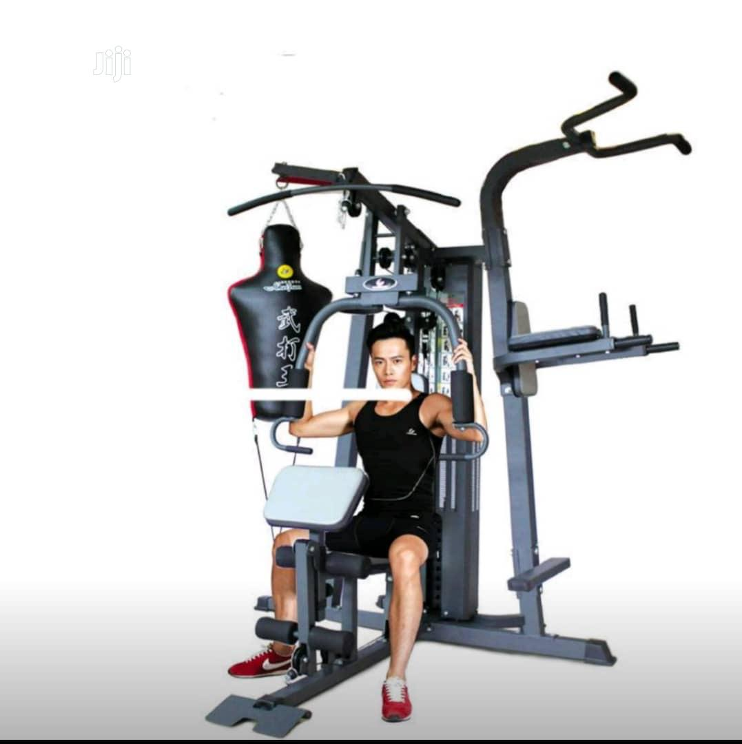 Brand New Imported Three Multi Station GYM With All Accessories | Sports Equipment for sale in Surulere, Lagos State, Nigeria