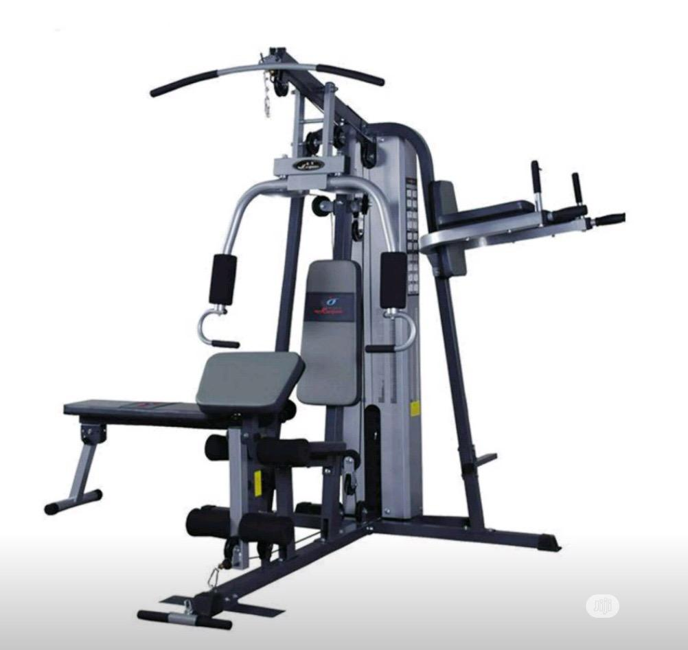 Brand New Imported Three Multi Station GYM With All Accessories
