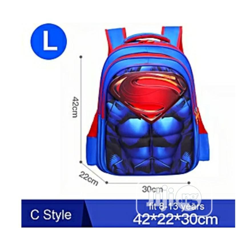 Kids 3D Muscle Super Man School Bag