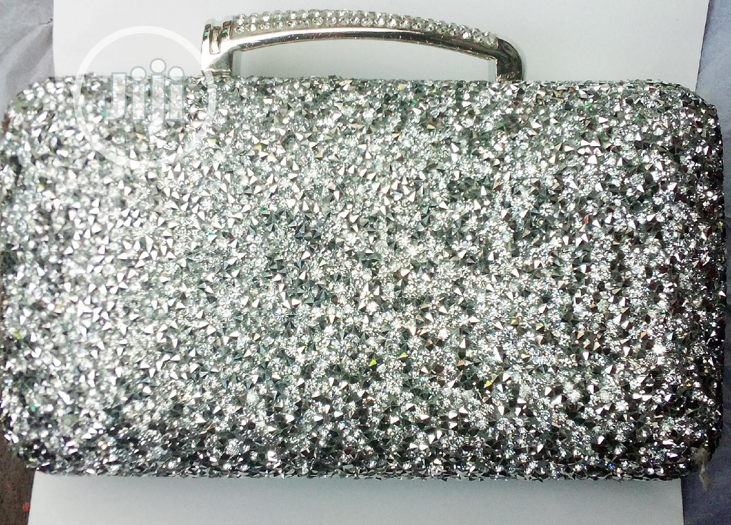 Moderate Silver Clutch Purse