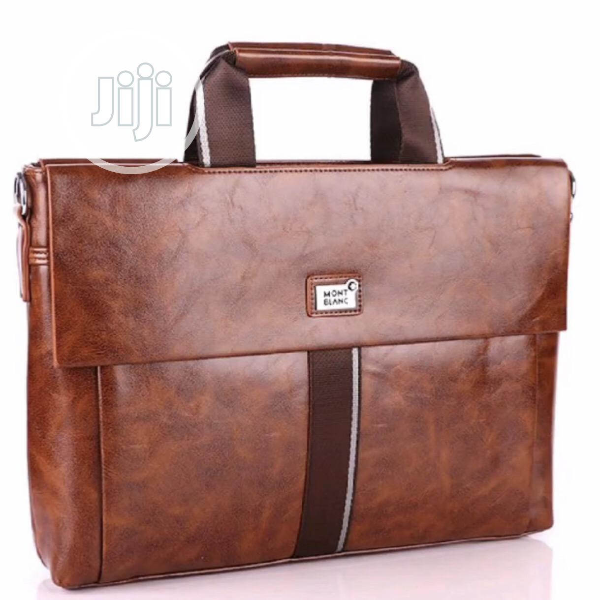 Mont Blanc Leather Office Bag Available as Seen Order Yours Now