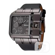 Oulm 3364 Casual Wristwatch Square Dial Wide Strap Men's Quartz | Watches for sale in Lagos State, Maryland
