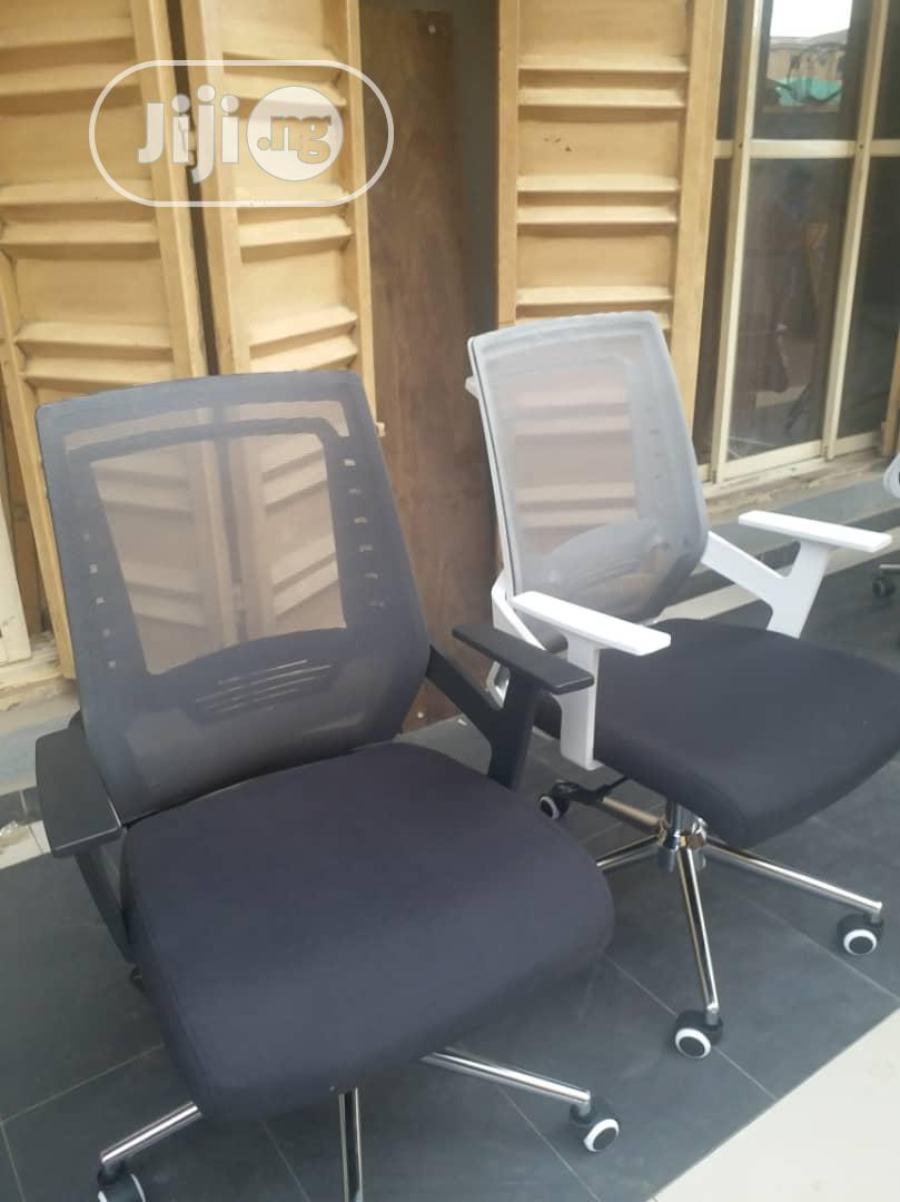 Grey and Black Mesh Swivel Office Chairs | Furniture for sale in Lekki Phase 1, Lagos State, Nigeria