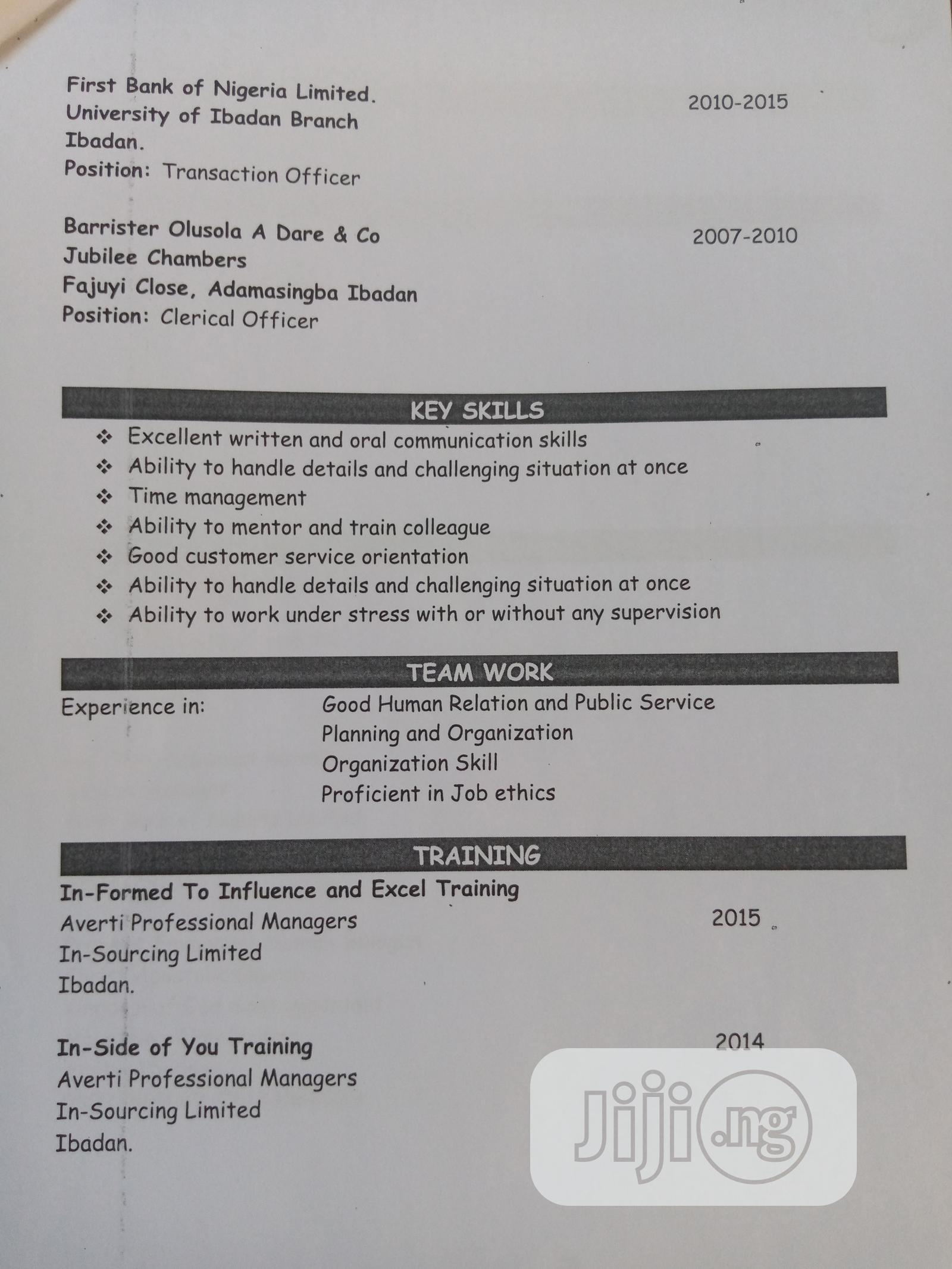Advertising & Marketing CV   Advertising & Marketing CVs for sale in Egbeda, Oyo State, Nigeria