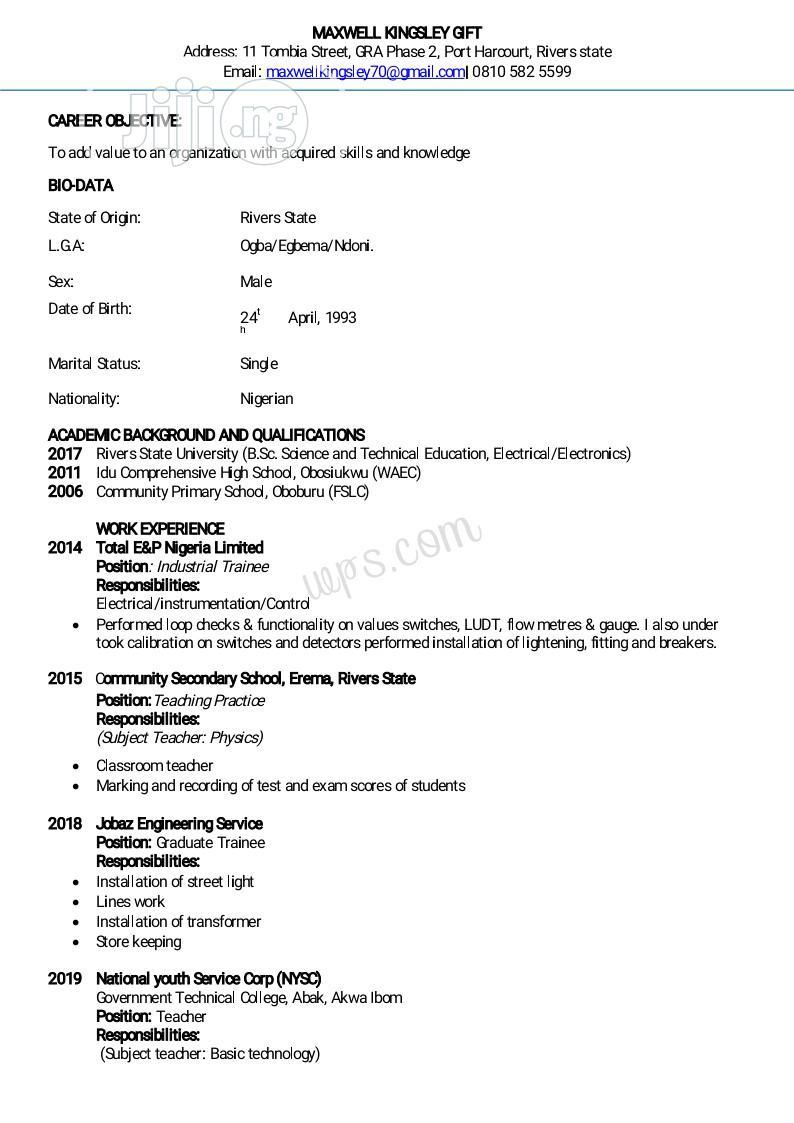 Security CV