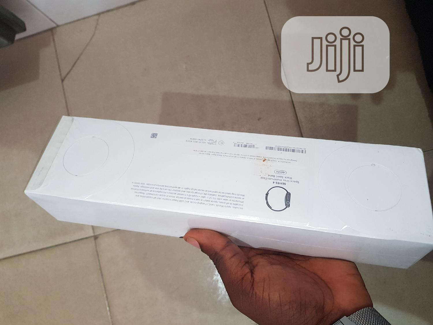 New Apple Watch Series 4 44mm Black Gps Only | Smart Watches & Trackers for sale in Ibadan, Oyo State, Nigeria