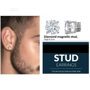 Magnetic Earring, Non Piercing 0.7cm Pair - Diamond Stone. | Jewelry for sale in Lagos State, Surulere