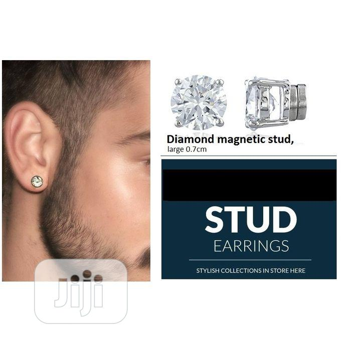Archive: Magnetic Earring, Non Piercing 0.7cm Pair - Diamond Stone.