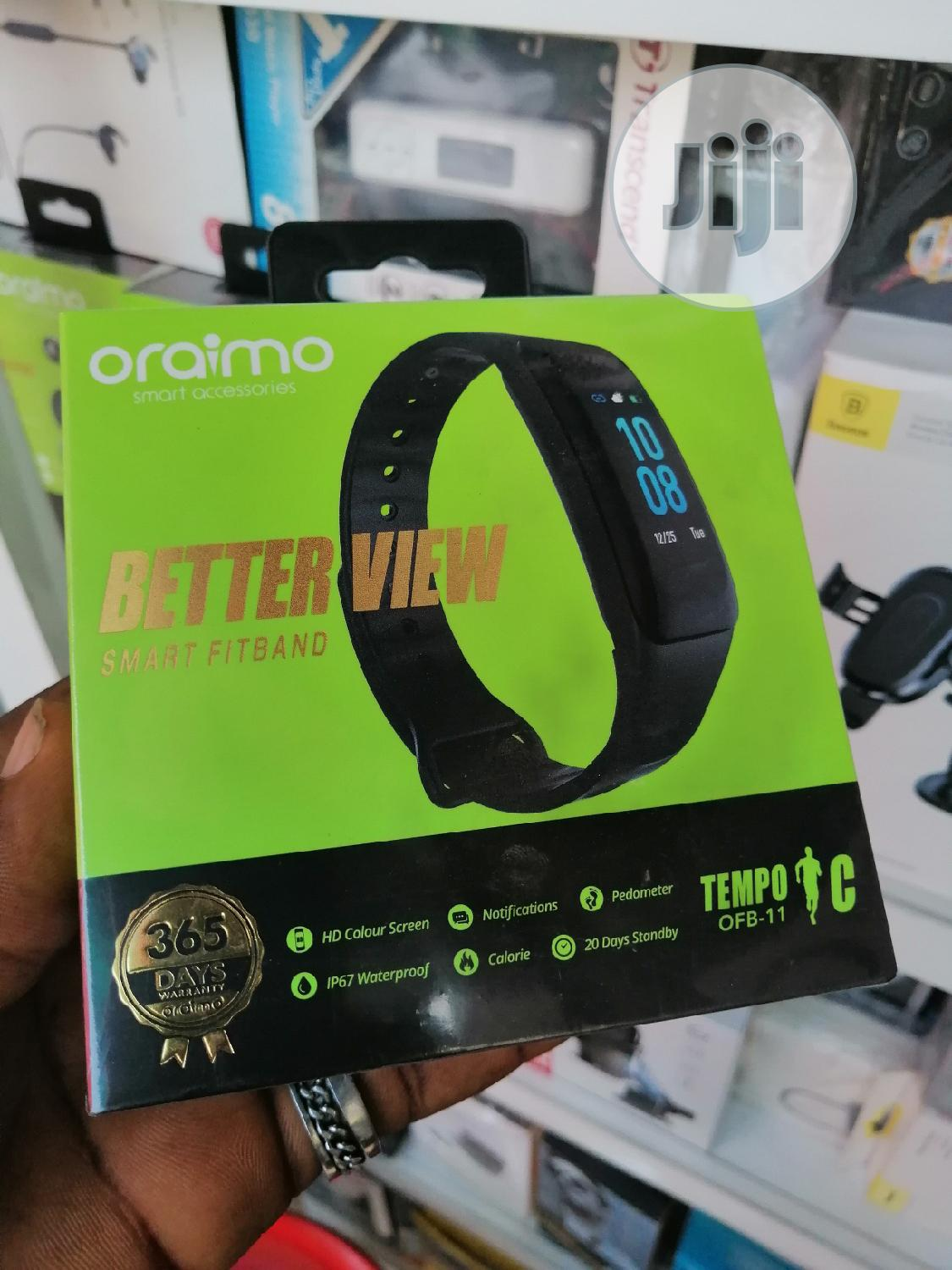 Oraimo Smart Fitband OFB-11 | Smart Watches & Trackers for sale in Ikeja, Lagos State, Nigeria