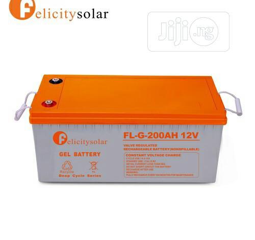 200ah 12V Felicity Solar GEL Battery