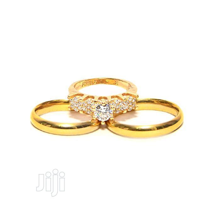 Archive: Gold Plated Wedding Ring Set