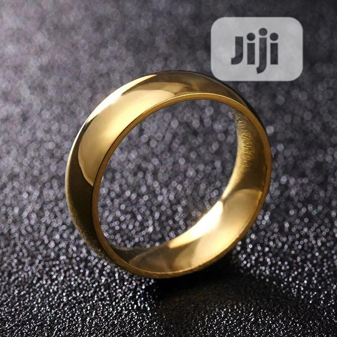 Gold Stainless Steel Lasting Wedding Ring Band