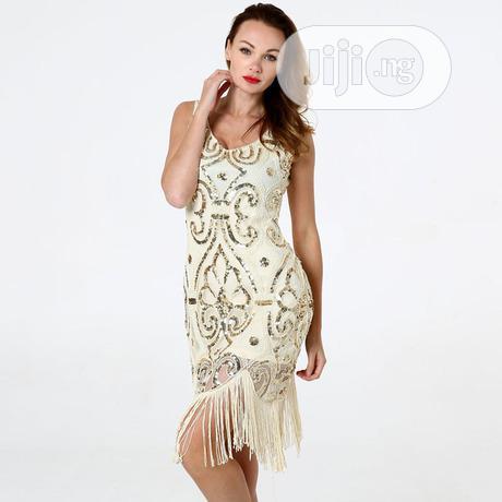 Classic Deep V-neck European Sexy Gatsby Skirt Dress