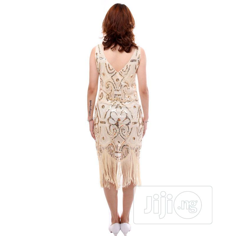 Classic Deep V-neck European Sexy Gatsby Skirt Dress   Clothing for sale in Lagos Island (Eko), Lagos State, Nigeria