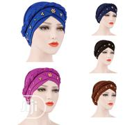 Muslim Single Pin Gold Pearl Whip Hooded Hat | Clothing Accessories for sale in Lagos State, Ifako-Ijaiye