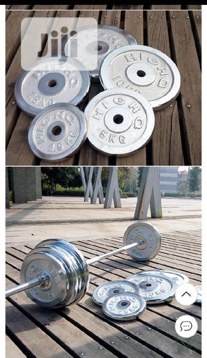 50KG Detachable Anti Rust Chrome Dumbbells Barbells Set | Sports Equipment for sale in Lagos State, Victoria Island