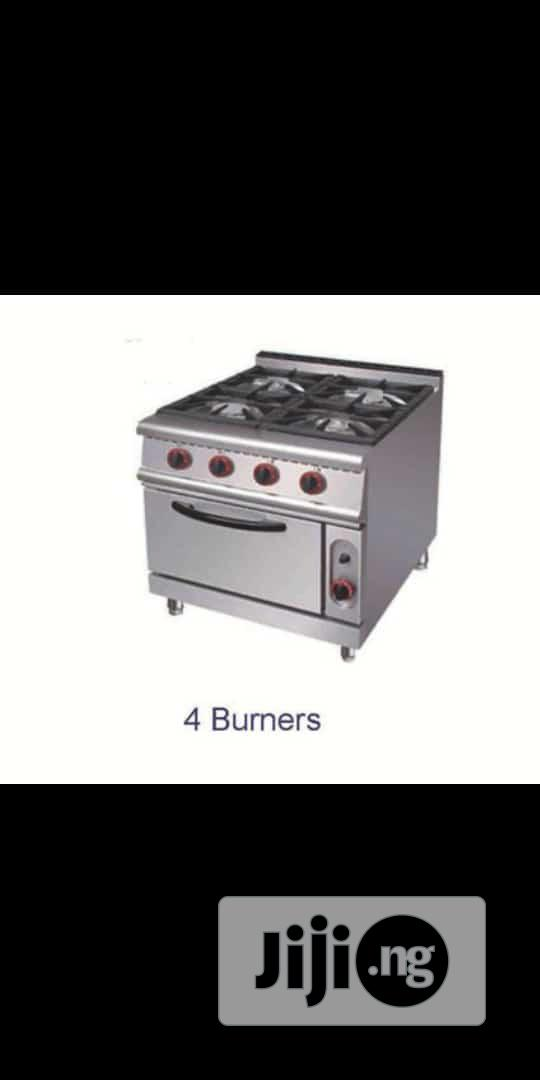 4 Burner Industrial Gas Cooker With Oven