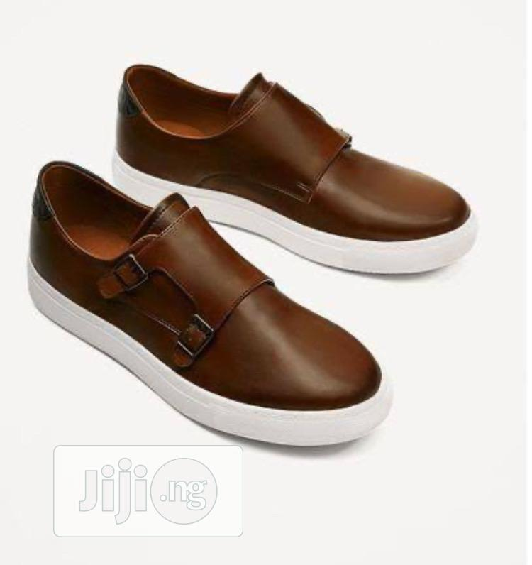 Archive: Double Monk Brown Sneakers